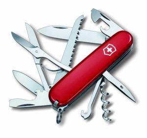 Victorinox Offiziermesser Huntsman 15 Funktionen, rot/silber, 1.3713-033